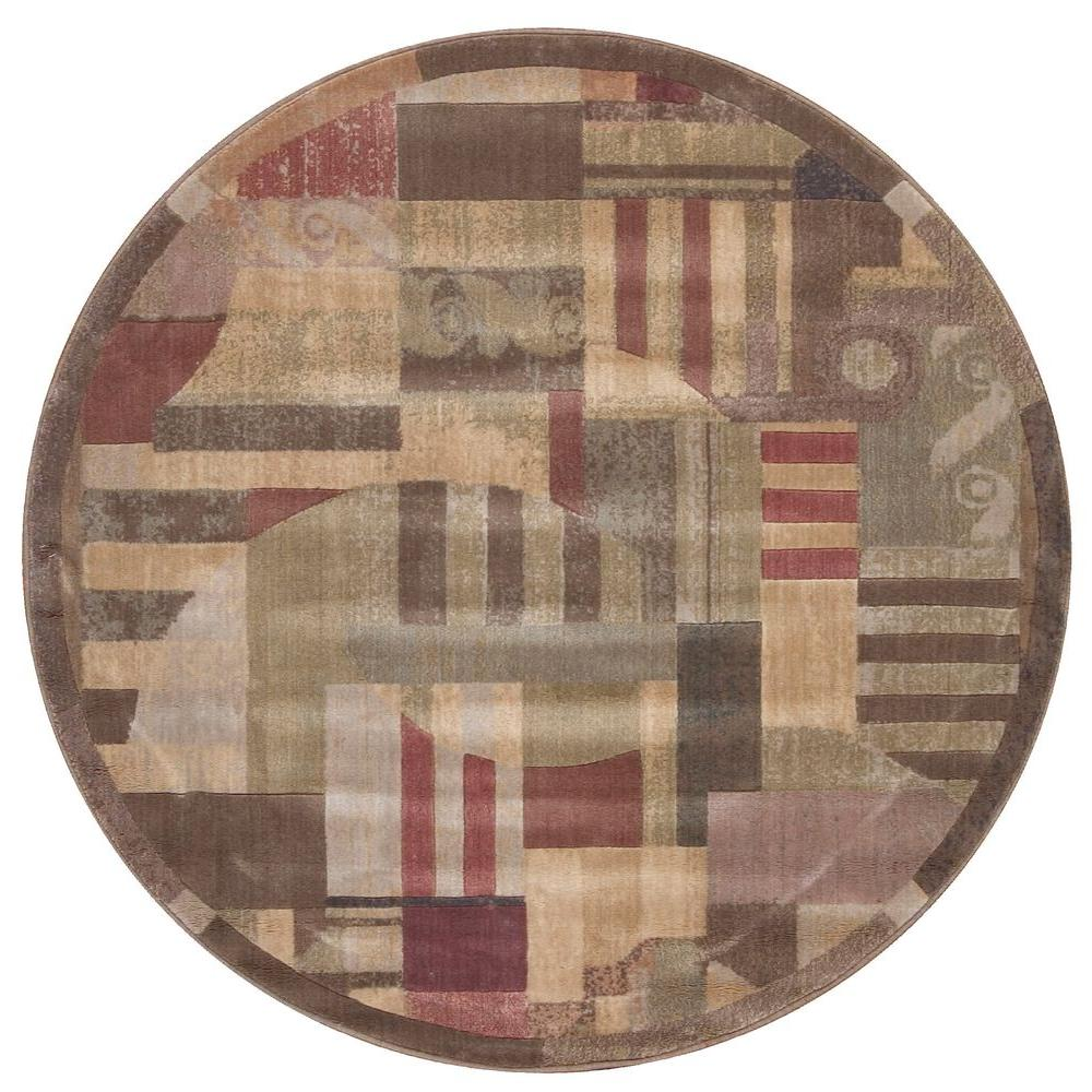 Nourison Somerset Multi-Color 5 ft. 6 in. Round Area Rug