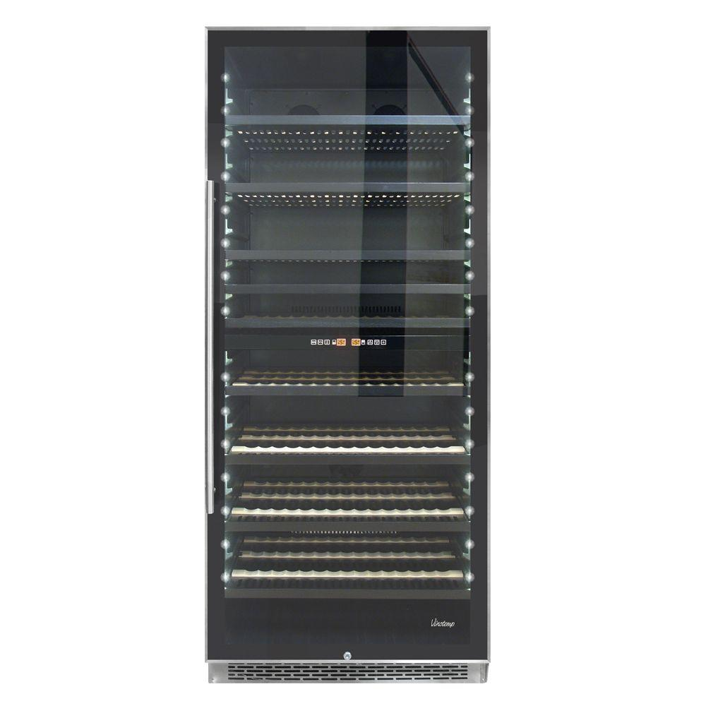 Vinotemp 300-Bottle Dual-Zone Wine Cooler-VT-300-SS-2Z - The Home Depot