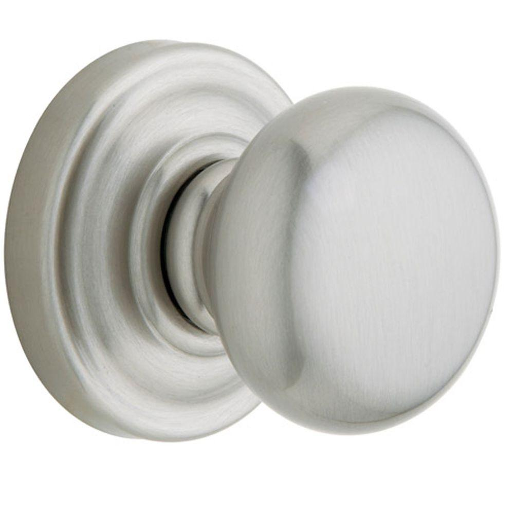 Baldwin ClassicSatin Nickel Dummy Knob with Classic Rose-DISCONTINUED