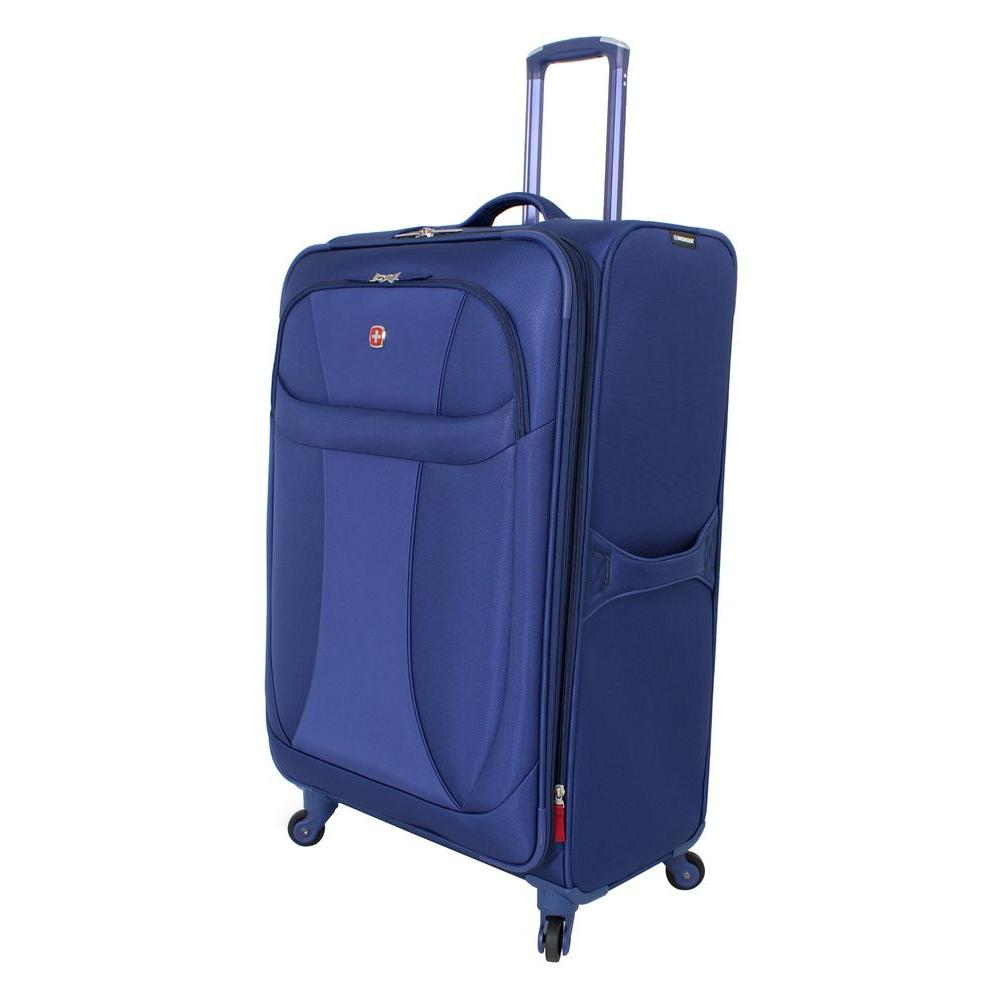 20 in. Lightweight Spinner Suitcase in Blue