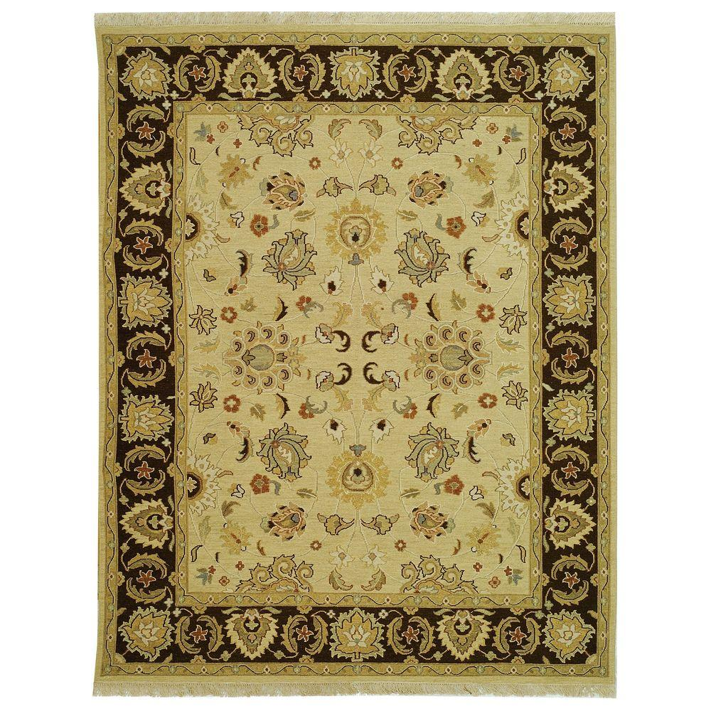 Sumak Ivory/Brown 8 ft. x 10 ft. Area Rug