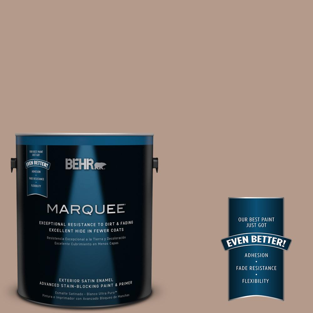 1-gal. #PMD-77 Rich Taupe Satin Enamel Exterior Paint