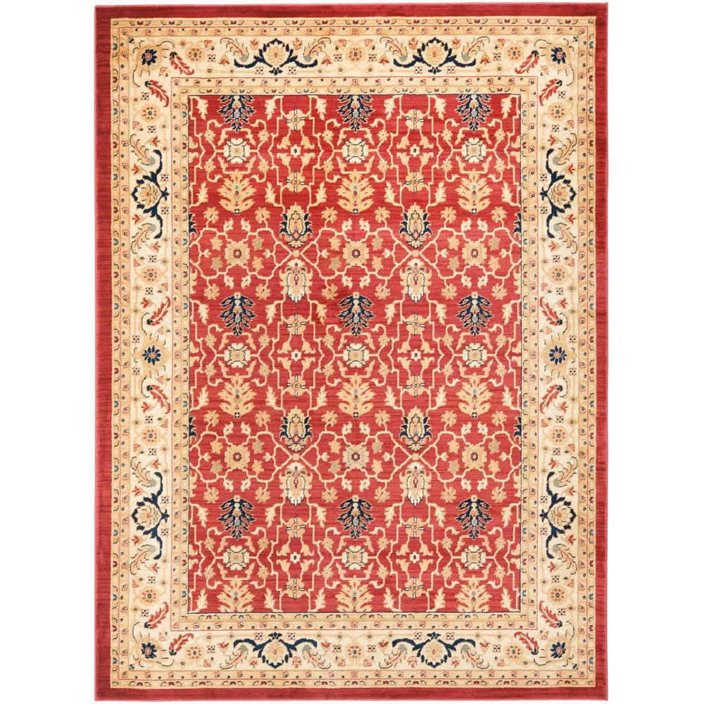 Austin Red/Cream 5 ft. 3 in. x 7 ft. 6 in. Area Rug