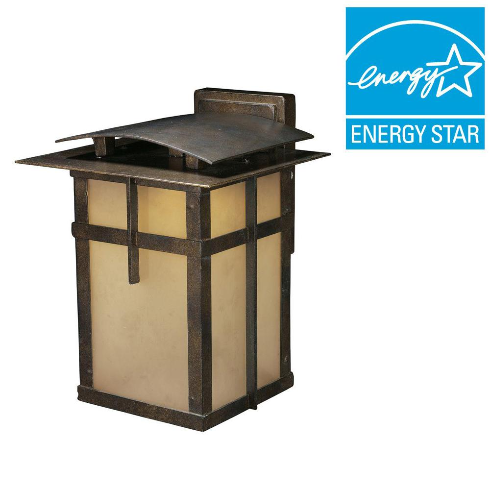 Titan Lighting San Fernando 1-Light Hazelnut Bronze Outdoor LED Wall Mount Sconce with Title 24 Compliant