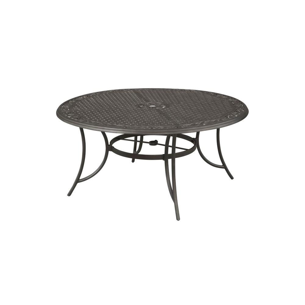 round cast aluminum patio dining table alf14315k01 the home depot
