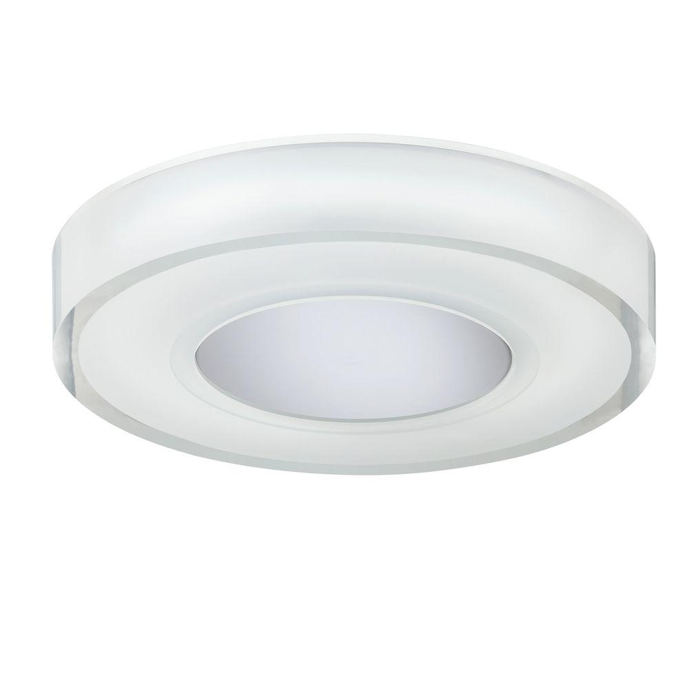 Eurofase Spirit Collection 1-Light Chrome Medium Flushmount