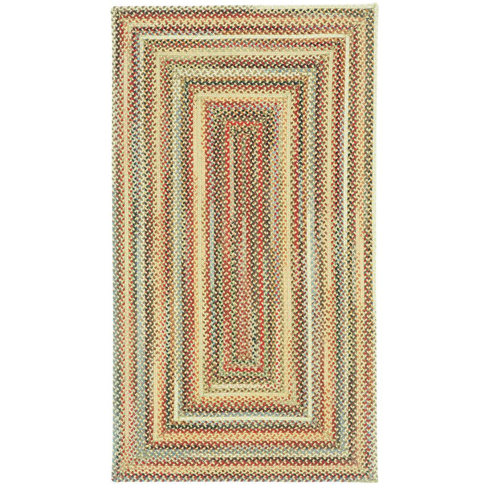 Portland Gold 3 ft. x 3 ft. Concentric Area Rug