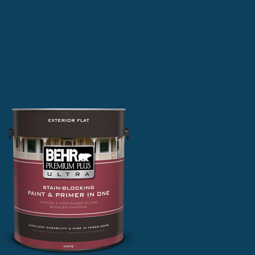 1-gal. #ECC-53-3 Outer Space Flat Exterior Paint