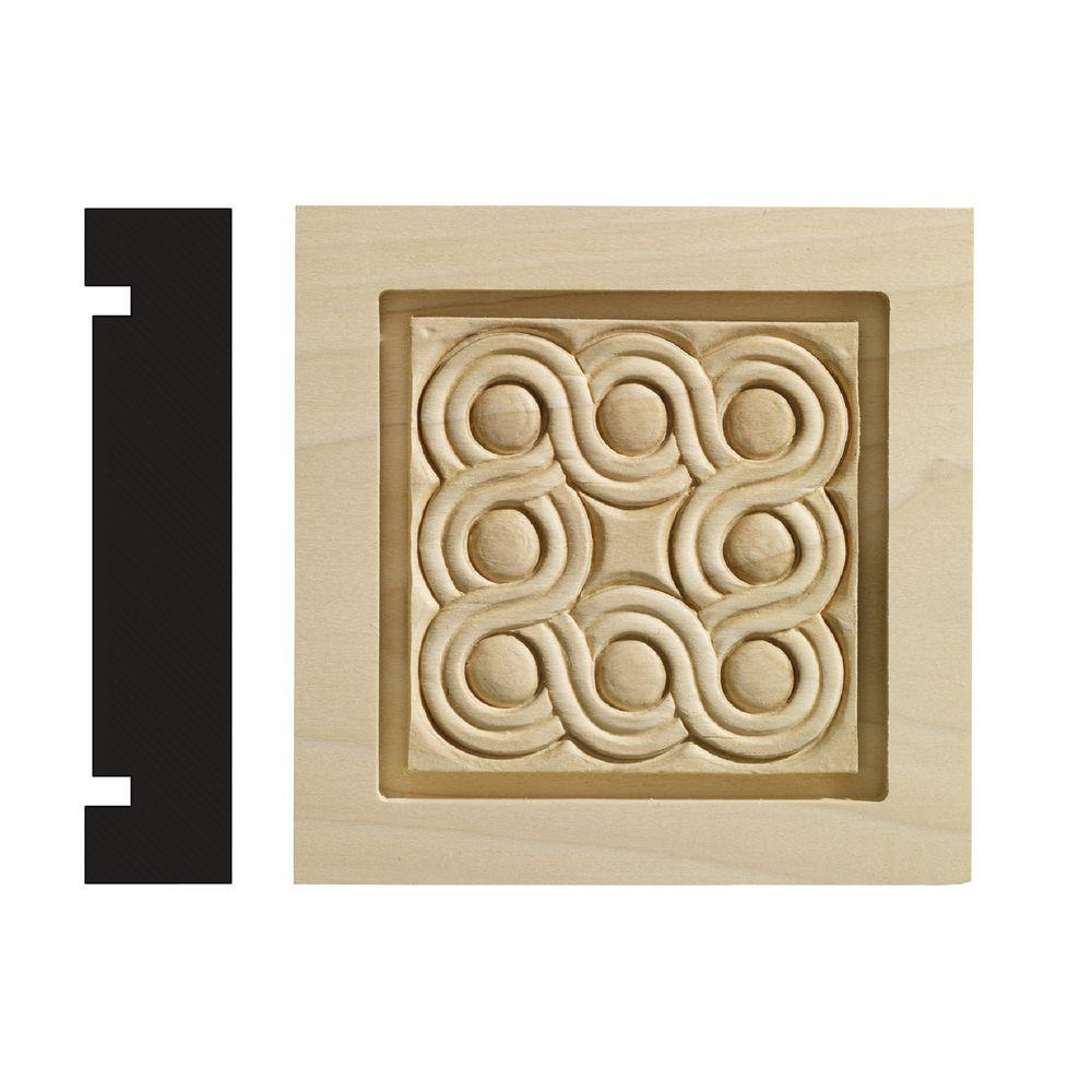 Ornamental Mouldings Rondele Collection 1-3/16 in. x 5-1/2 in. x 5-1/2