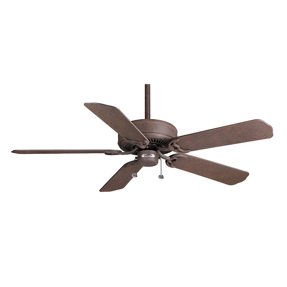 Casablanca Four Seasons III Outsider 52 in. Rustic Iron ETL Damp Ceiling Fan-DISCONTINUED