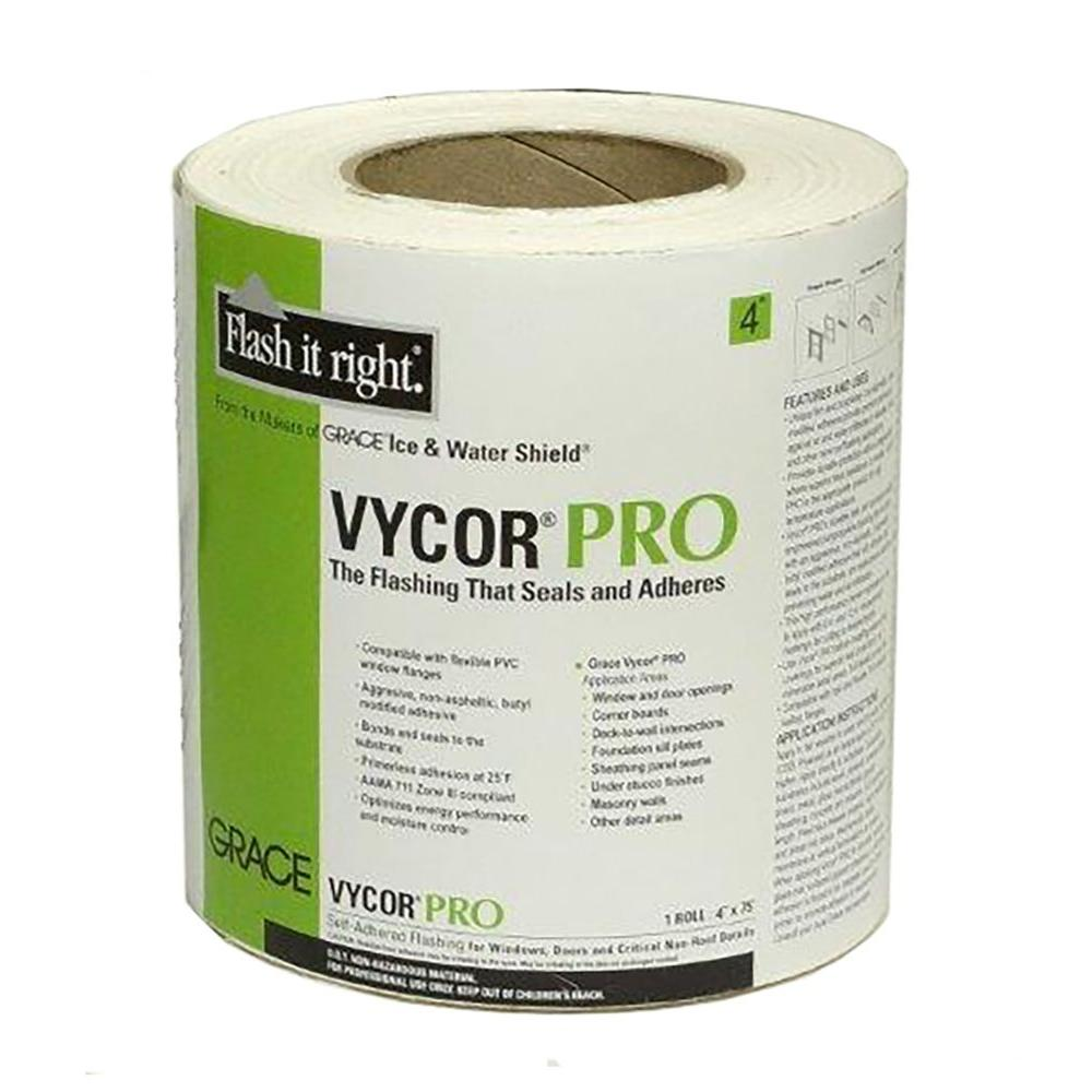 4 in. x 75 ft. Vycor Pro Fully-Adhered Butyl Flashing