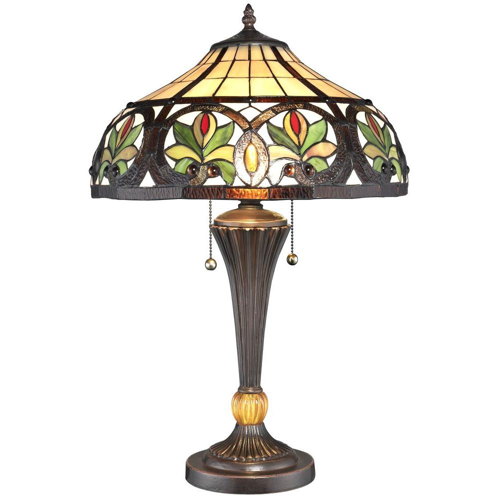 Serena D'italia 23 in. Tiffany Sunrise Bronze Table Lamp