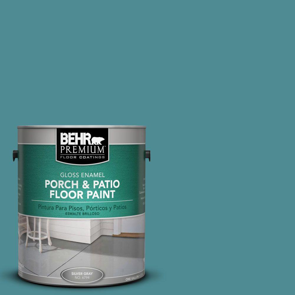BEHR Premium 1-Gal. #pfc-49 Heritage Teal Gloss Porch and Patio Floor Paint