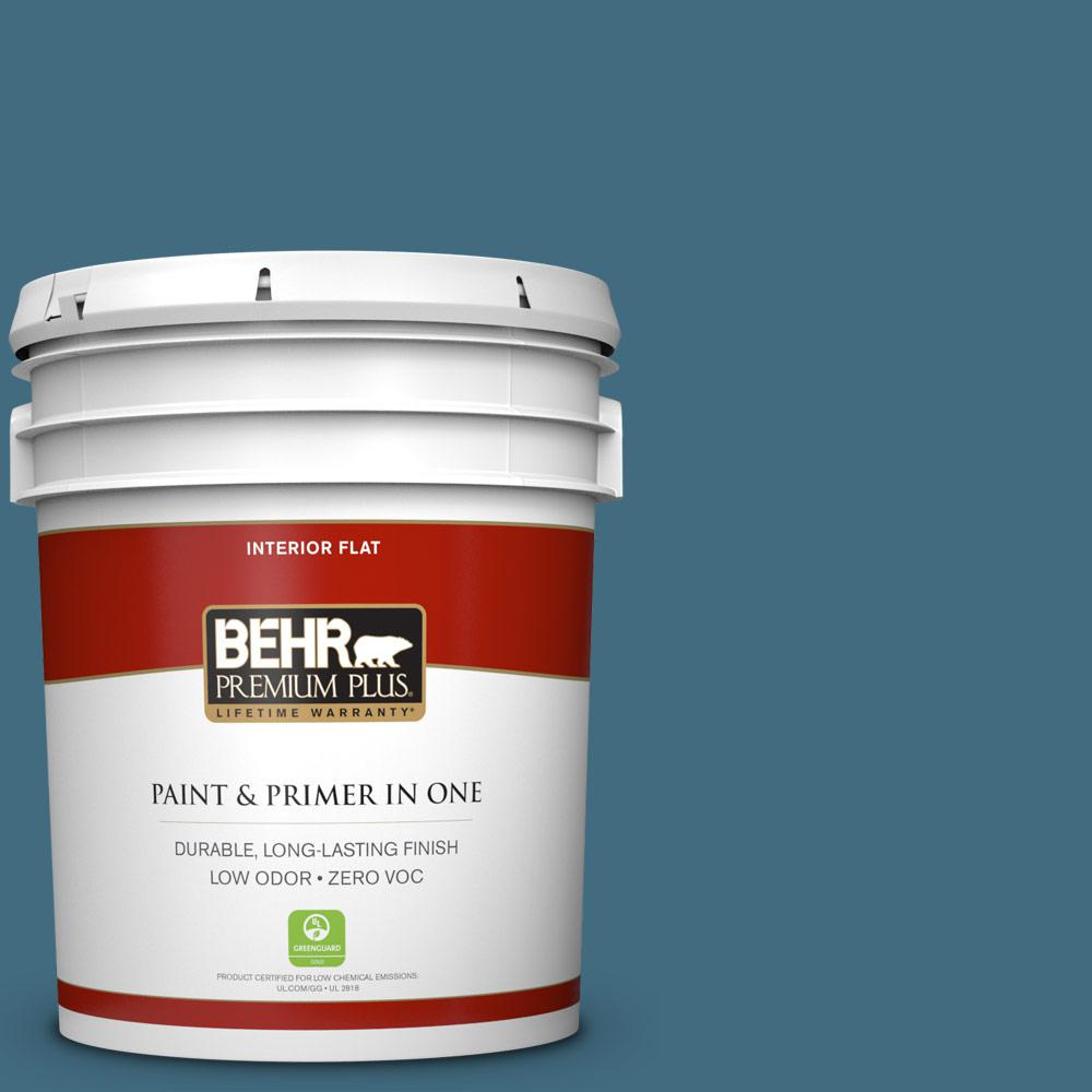 5 gal. #550F-6 Regatta Bay Zero VOC Flat Interior Paint