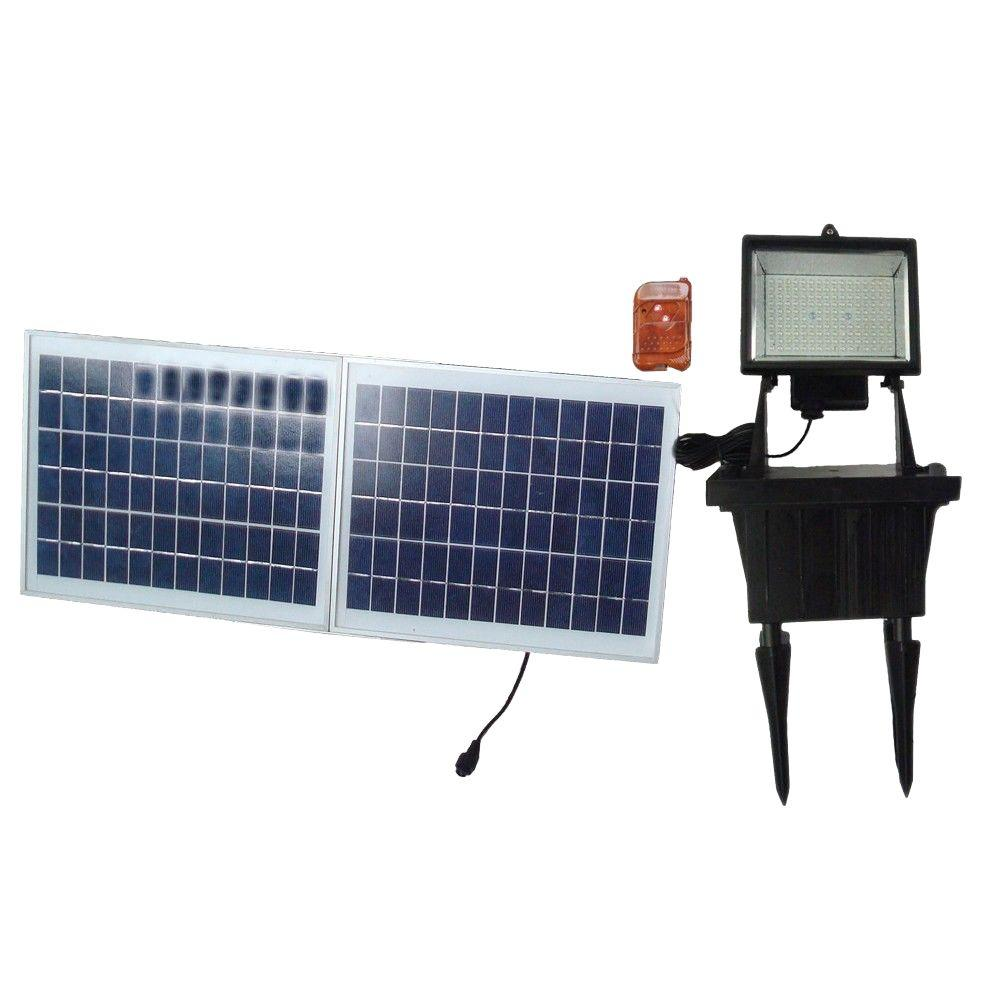 Solar Goes Green Solar Black Outdoor LED Flood Light with Remote Control