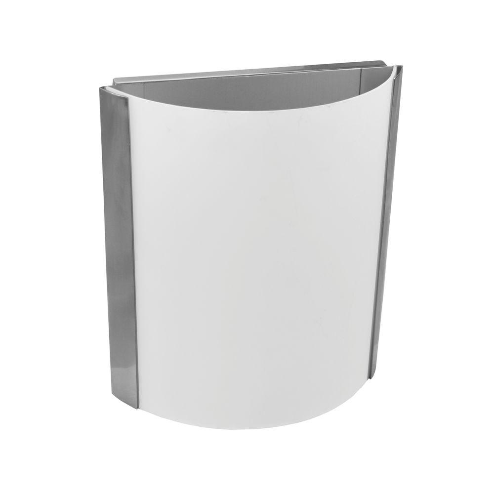 Alabaster Glass Panels : Homeselects light brushed nickel wall sconce with