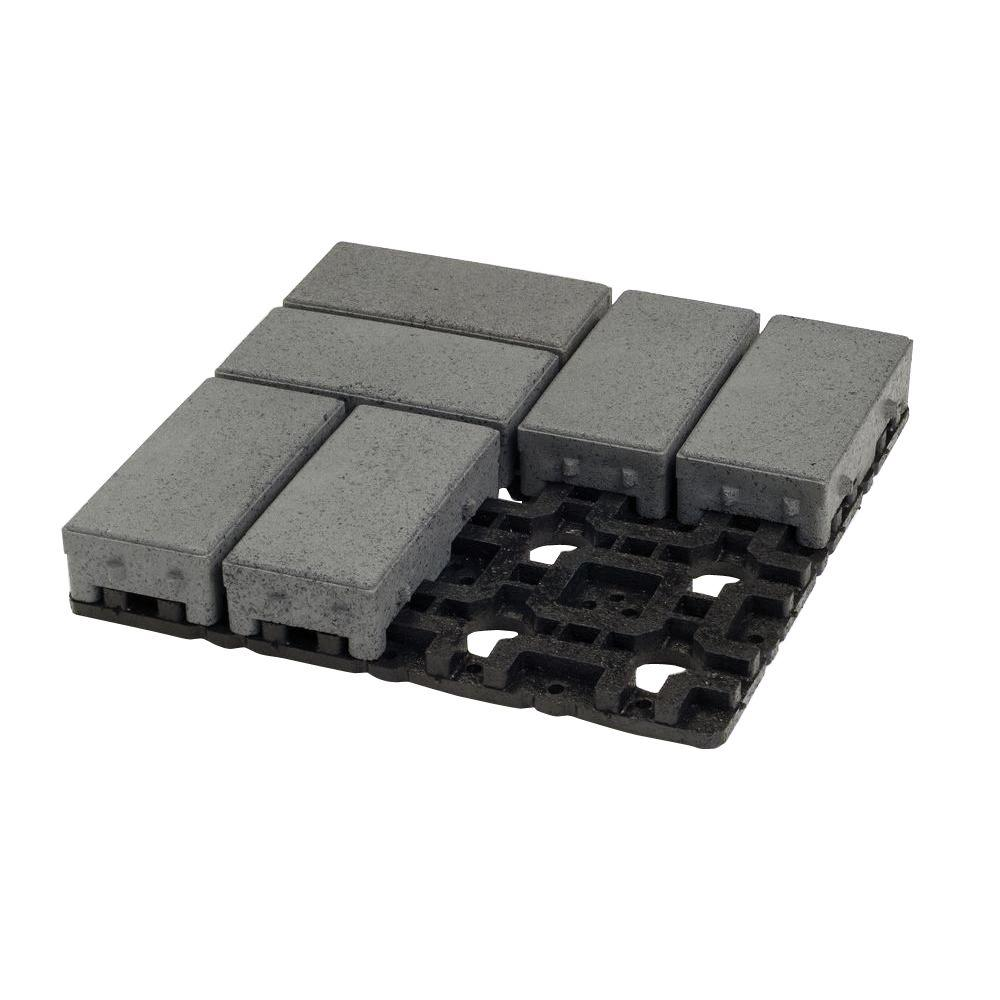 4 in. x 8 in. Waterwheel Composite Permeable Paver Grid System