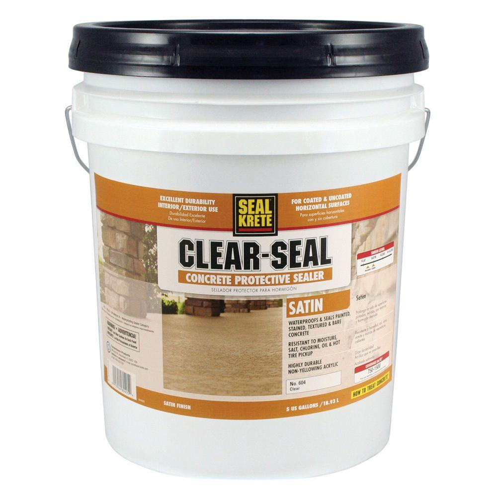 Seal-Krete 5 gal. Satin Clear Seal Concrete Protective Sealer-604005 - The