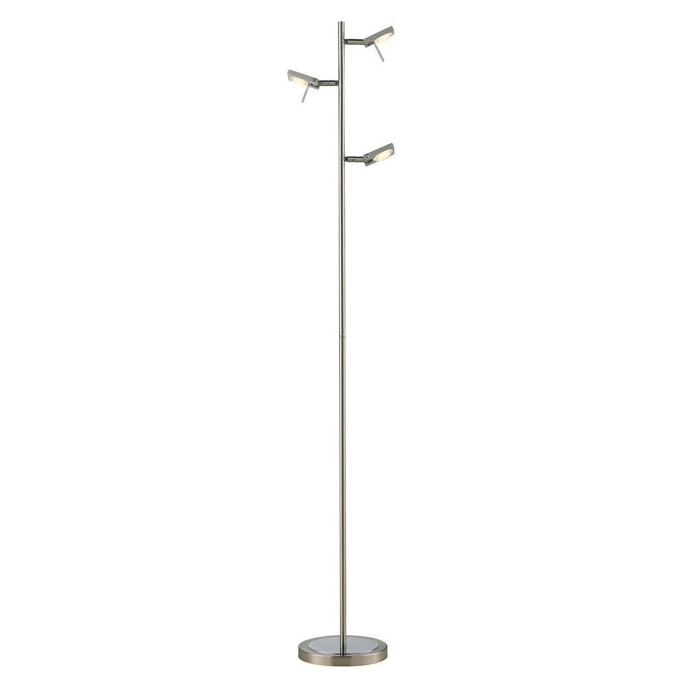 Plandome Collection 63 in. Brushed Nickel/Brushed Aluminum Floor Lamp