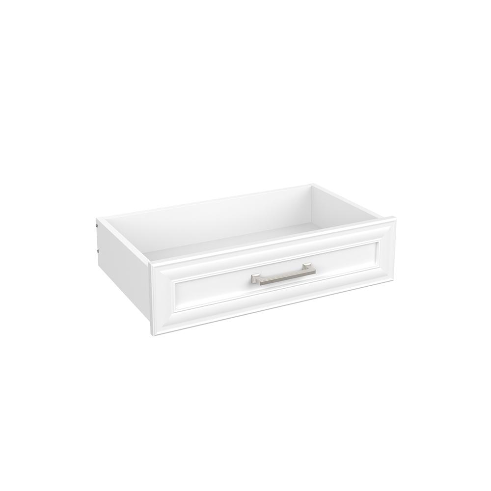 Easentials 6 in. H x 24 in. W White Melamine Traditional