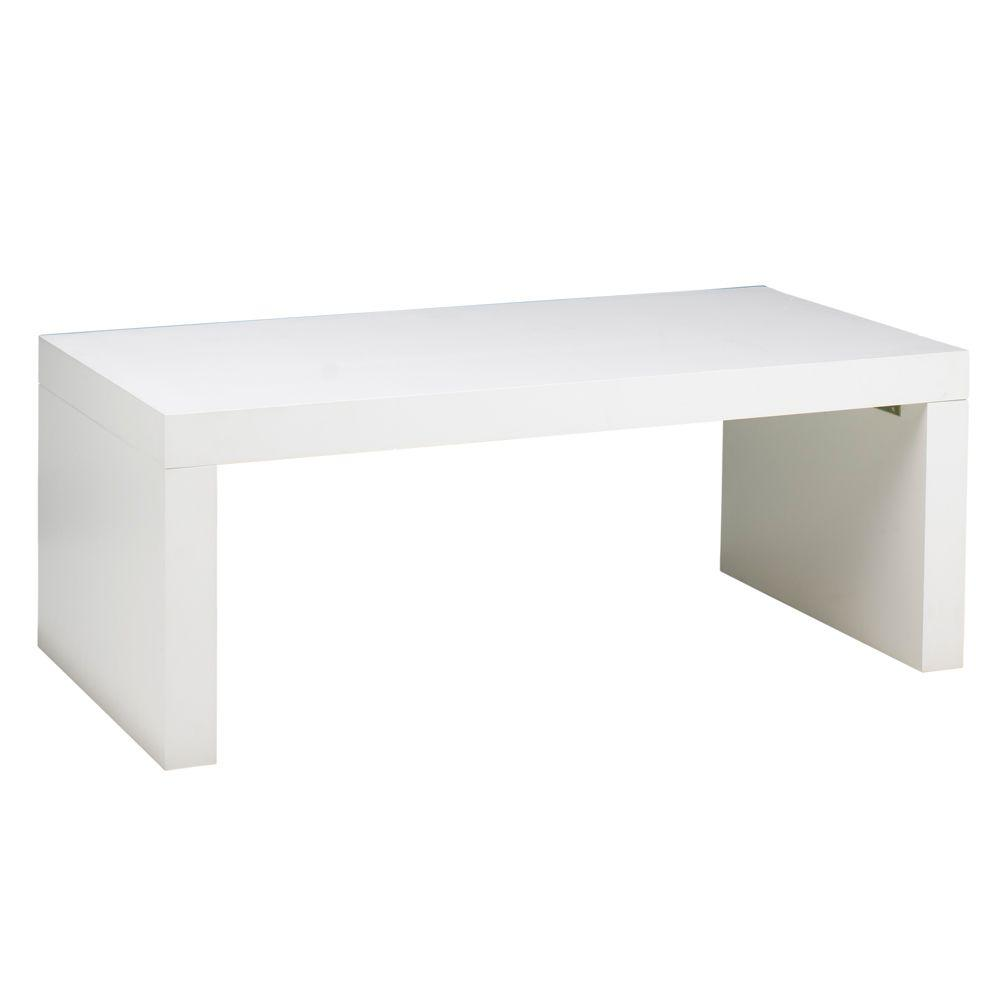 Home Decorators Collection 48 in. W Loft White Coffee Table
