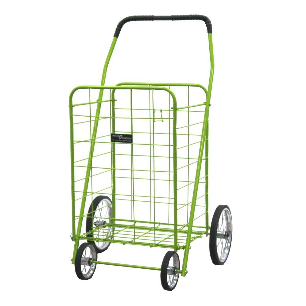 Easy Wheels Jumbo Shopping Cart in Green-001GN - The Home Depot