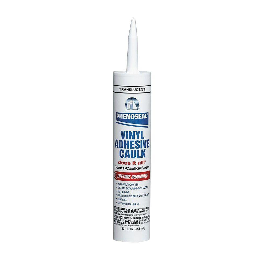 Phenoseal Does It All 10 Oz Translucent Vinyl Adhesive Caulk 12 Pack 5113600016 The Home Depot