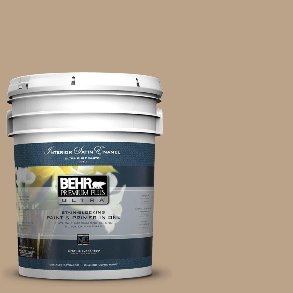 BEHR Premium Plus Ultra 5-gal. #710D-4 Harvest Brown Satin Enamel Interior Paint