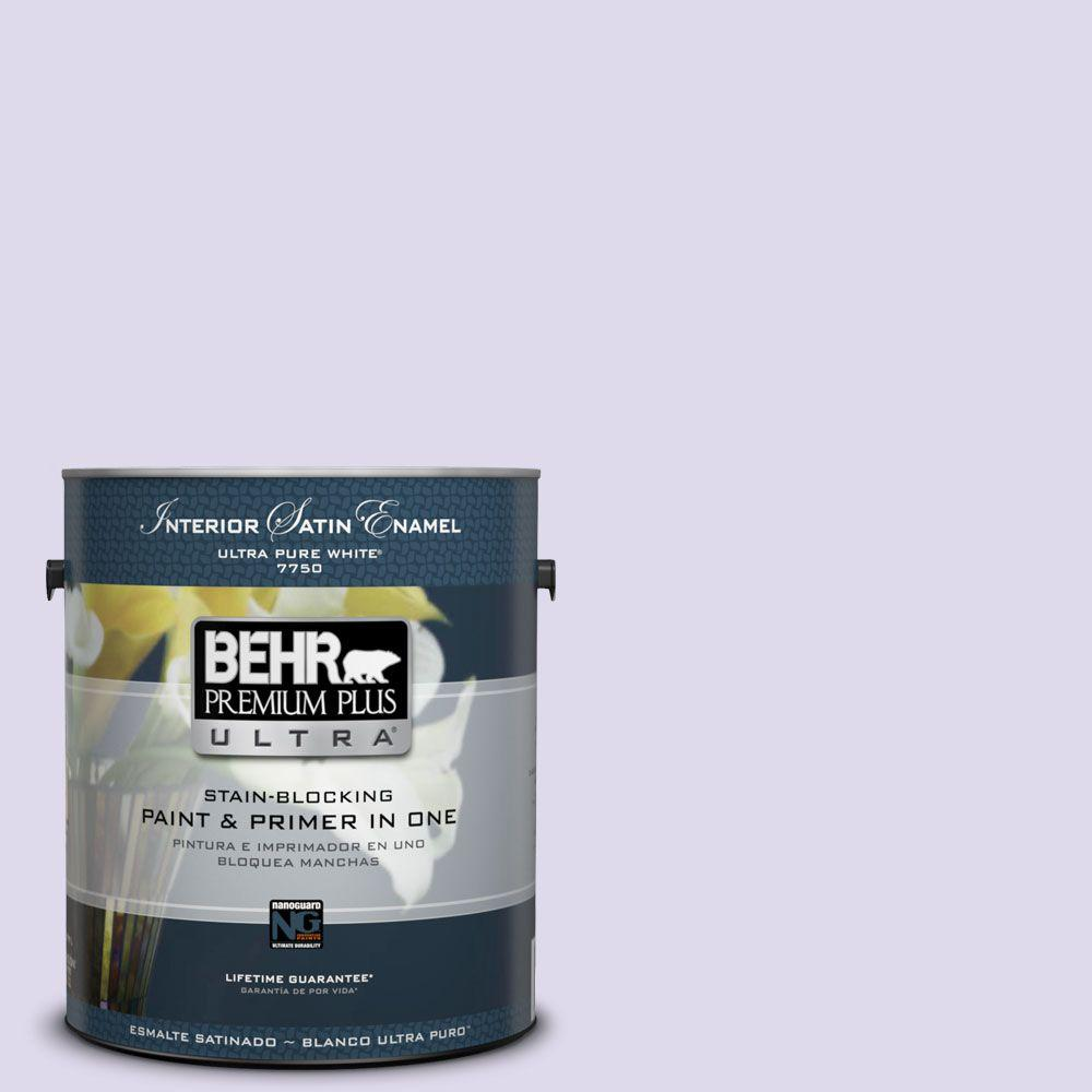 Interior Paint, Exterior Paint & Paint Samples: BEHR Premium Plus Ultra Paint 1-gal. #640A-2 Misty Violet Satin Enamel Interior Paint 775001