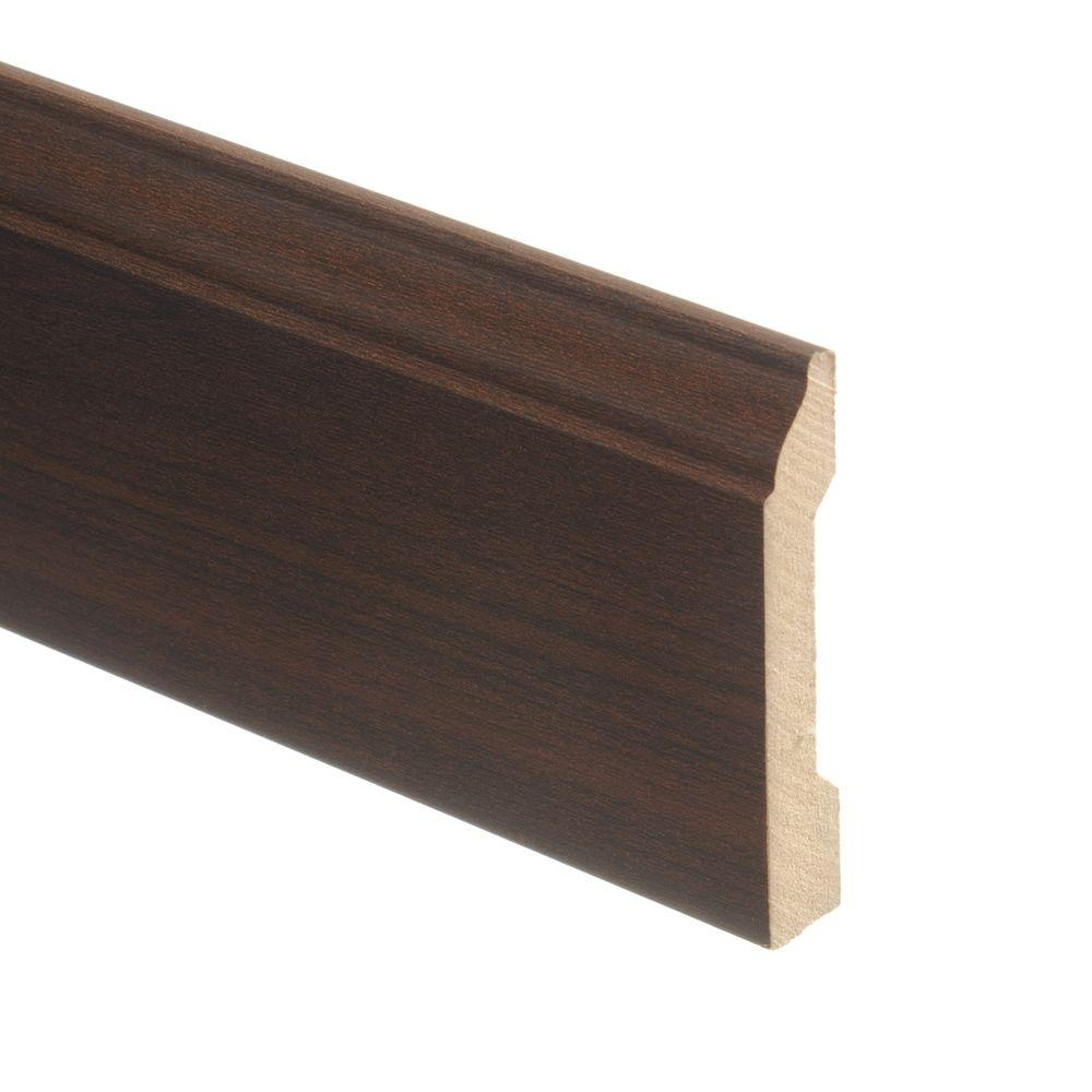 Maple Chocolate 9/16 in. Thick x 3-1/4 in. Wide x 94 in. Length Laminate Wall Base Molding, Light