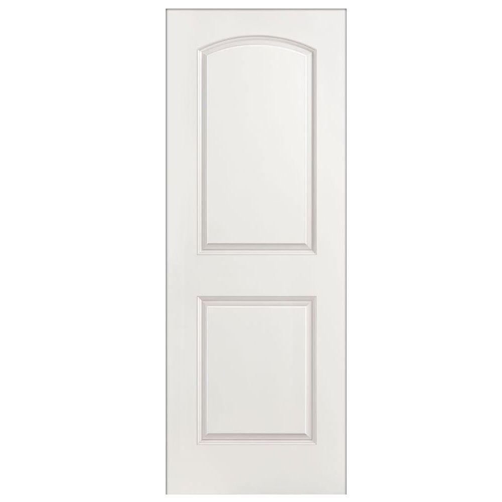 28 in. x 80 in. Roman Smooth 2-Panel Round Top Hollow