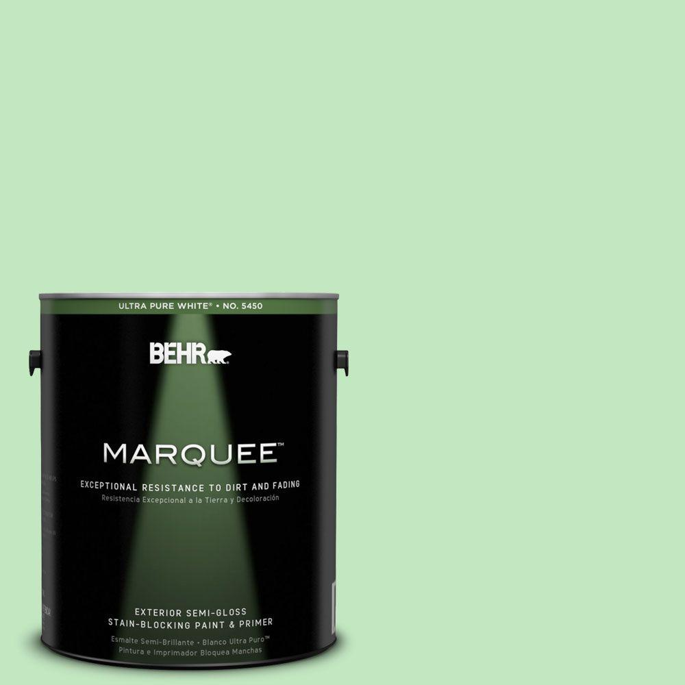 Interior Paint, Exterior Paint & Paint Samples: BEHR MARQUEE Paint 1-gal. #450A-3 Mountain Mint Semi-Gloss Enamel Exterior Paint 545401