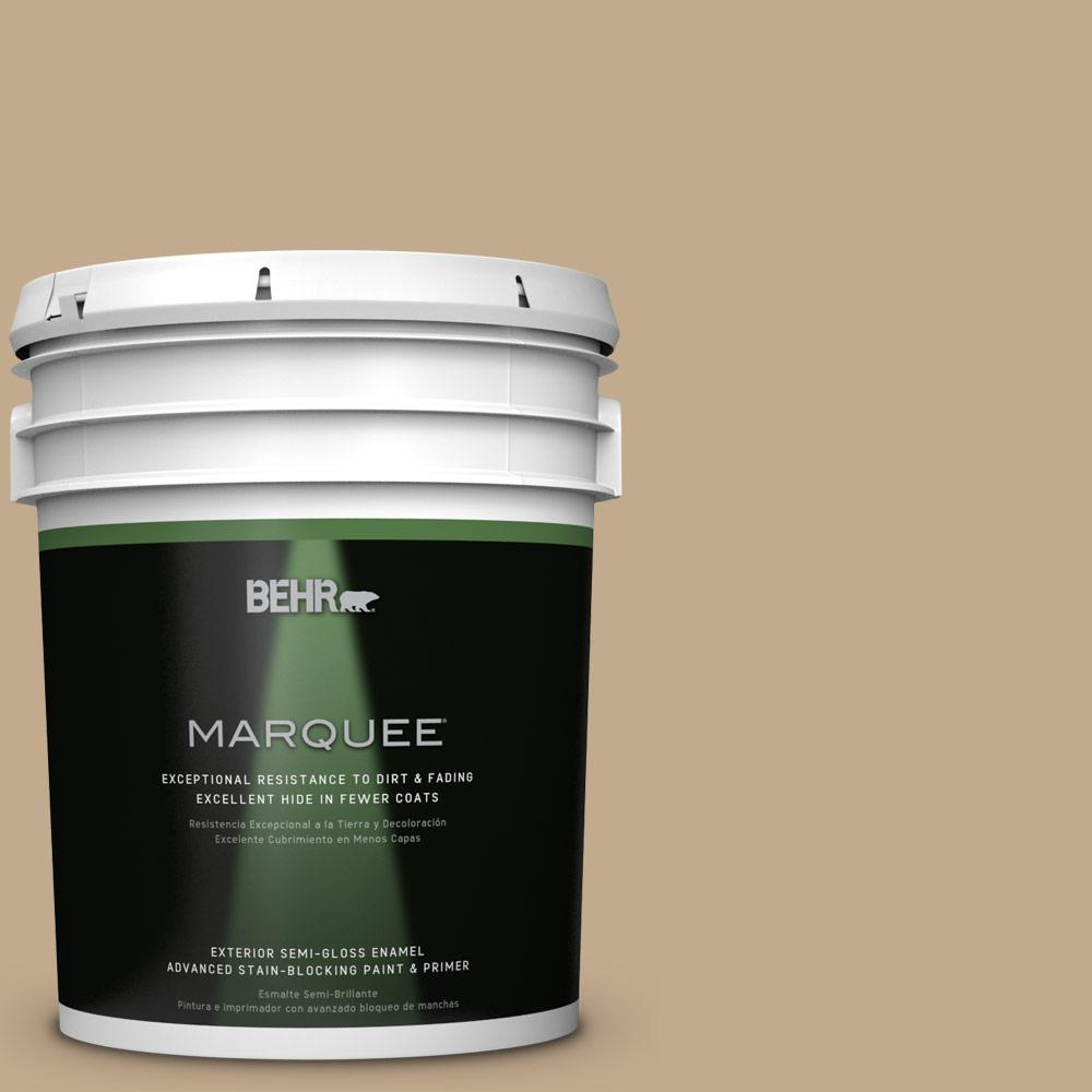 BEHR MARQUEE 5-gal. #BXC-07 Palomino Tan Semi-Gloss Enamel Exterior Paint-545405