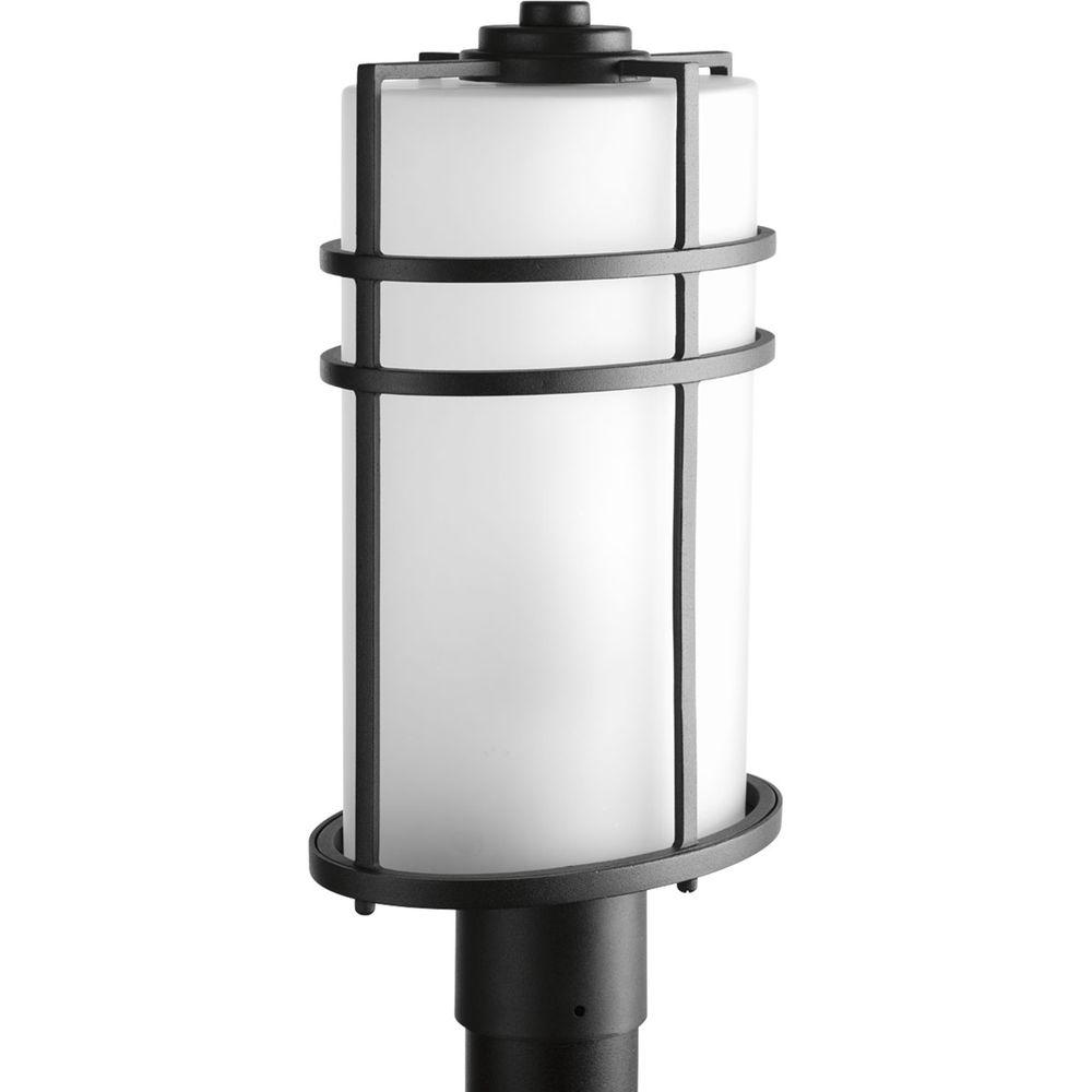 Format Collection 1-Light Black Outdoor Post Lantern