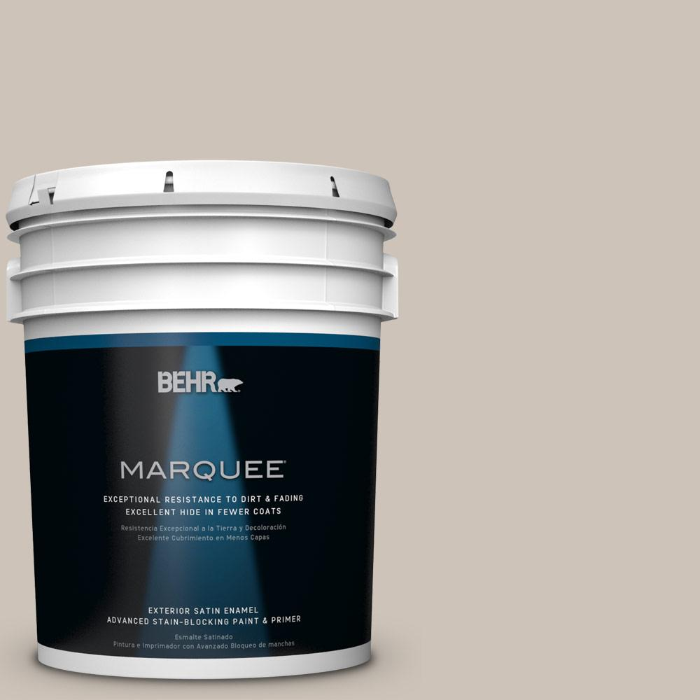 BEHR MARQUEE 5-gal. #ICC-89 Gallery Taupe Satin Enamel Exterior Paint-945005 -
