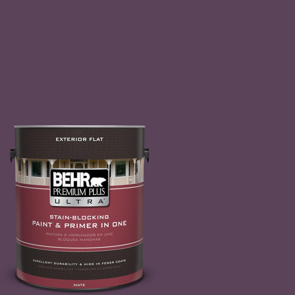 BEHR Premium Plus Ultra 1-gal. #T11-3 Strike a Pose Flat Exterior Paint