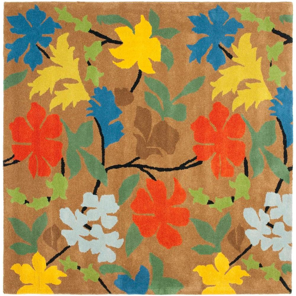 Safavieh Soho Brown/Multi 8 ft. x 8 ft. Square Area Rug-SOH737A-8SQ