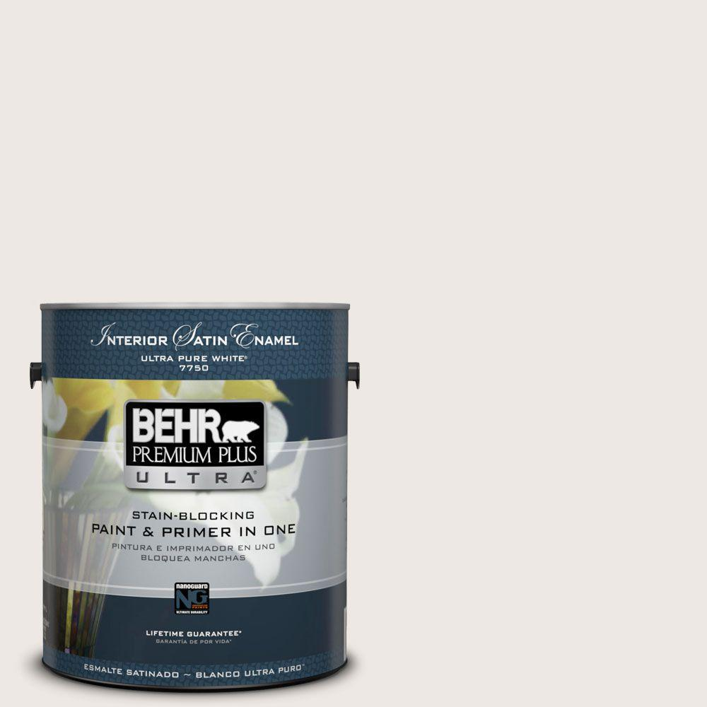 BEHR Premium Plus Ultra 1-gal. #720C-1 White Truffle Satin Enamel Interior Paint