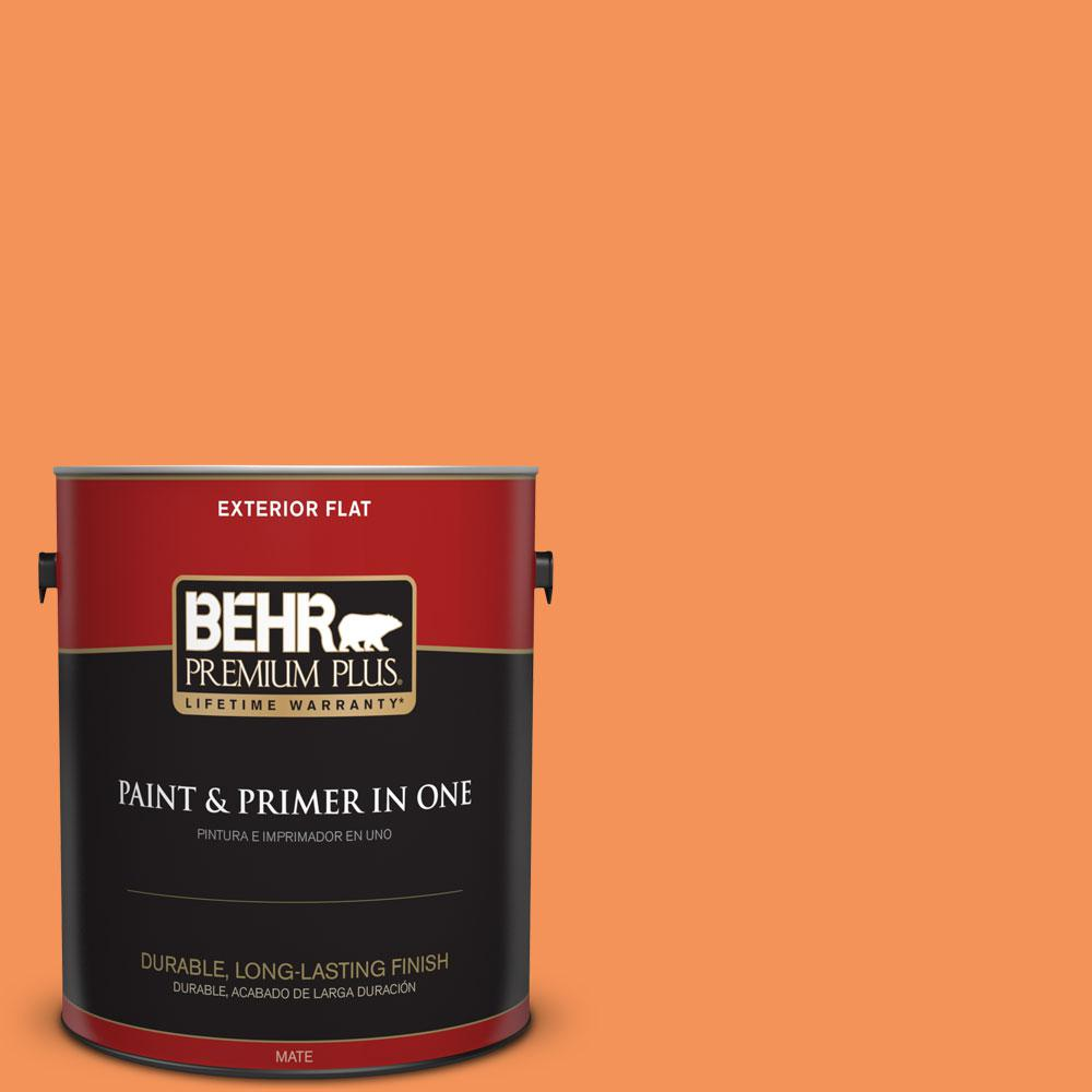 1-gal. #240B-5 Candied Yam Flat Exterior Paint