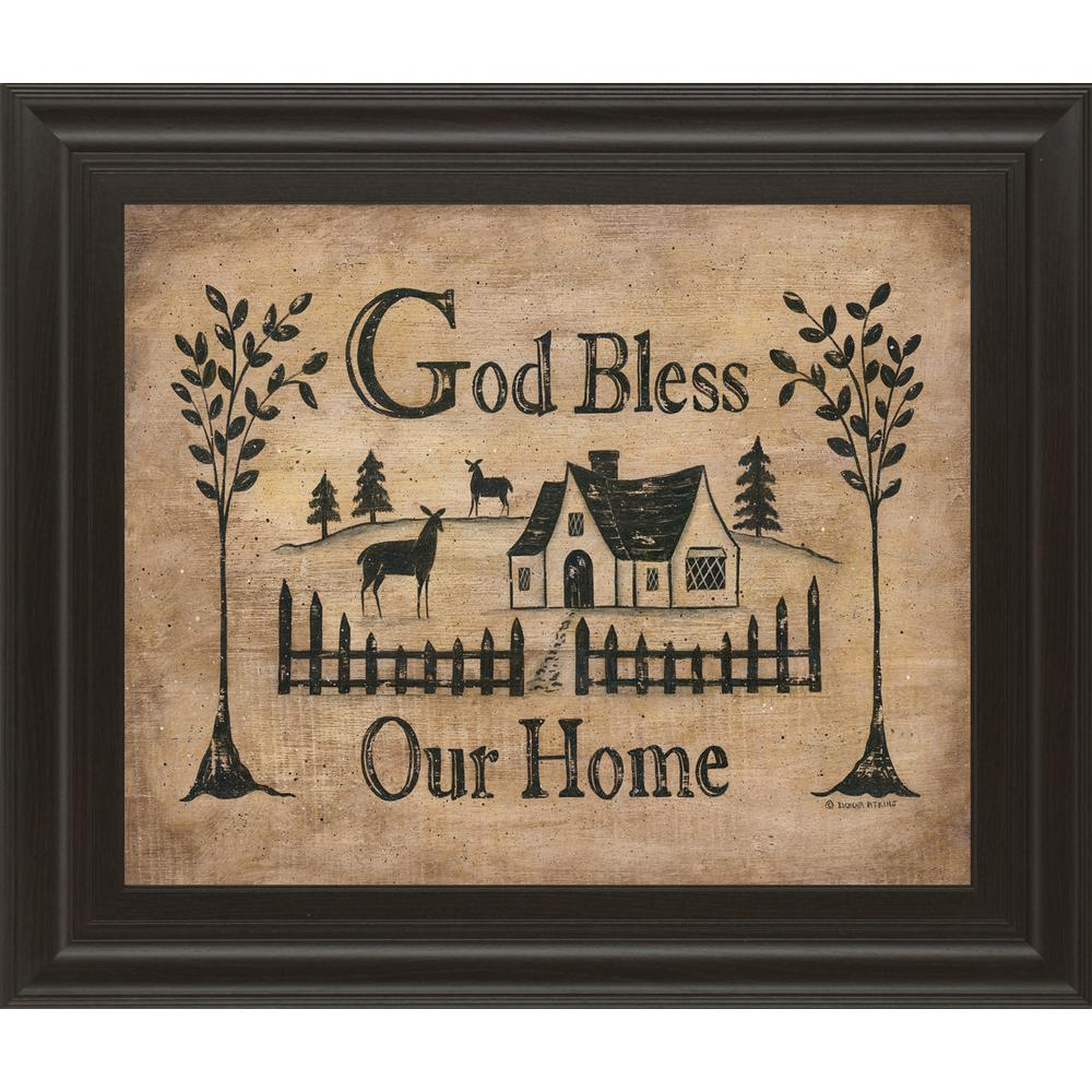 Classy art 22 in x 26 in god bless our home by donna atkins framed printed wall art 8174 Bless home furniture outlet