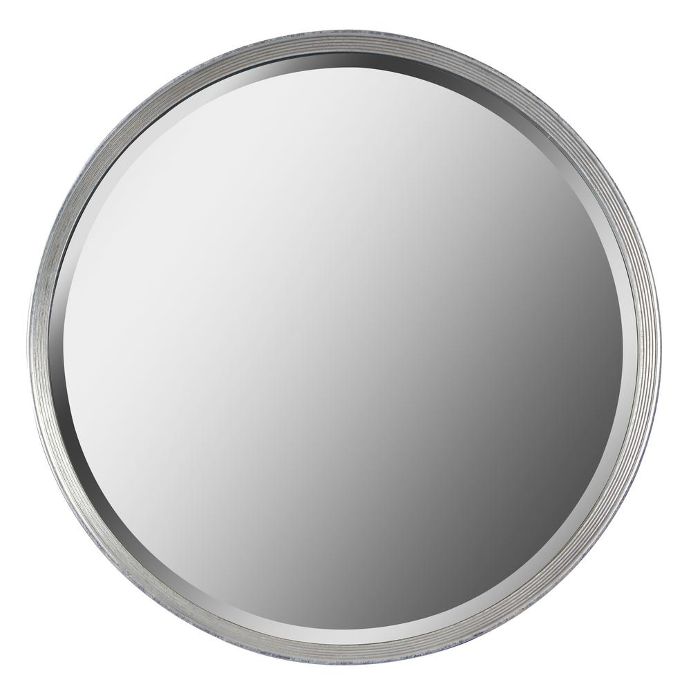 Hoop 33 in. x 33 in. Silver Framed Wall Mirror
