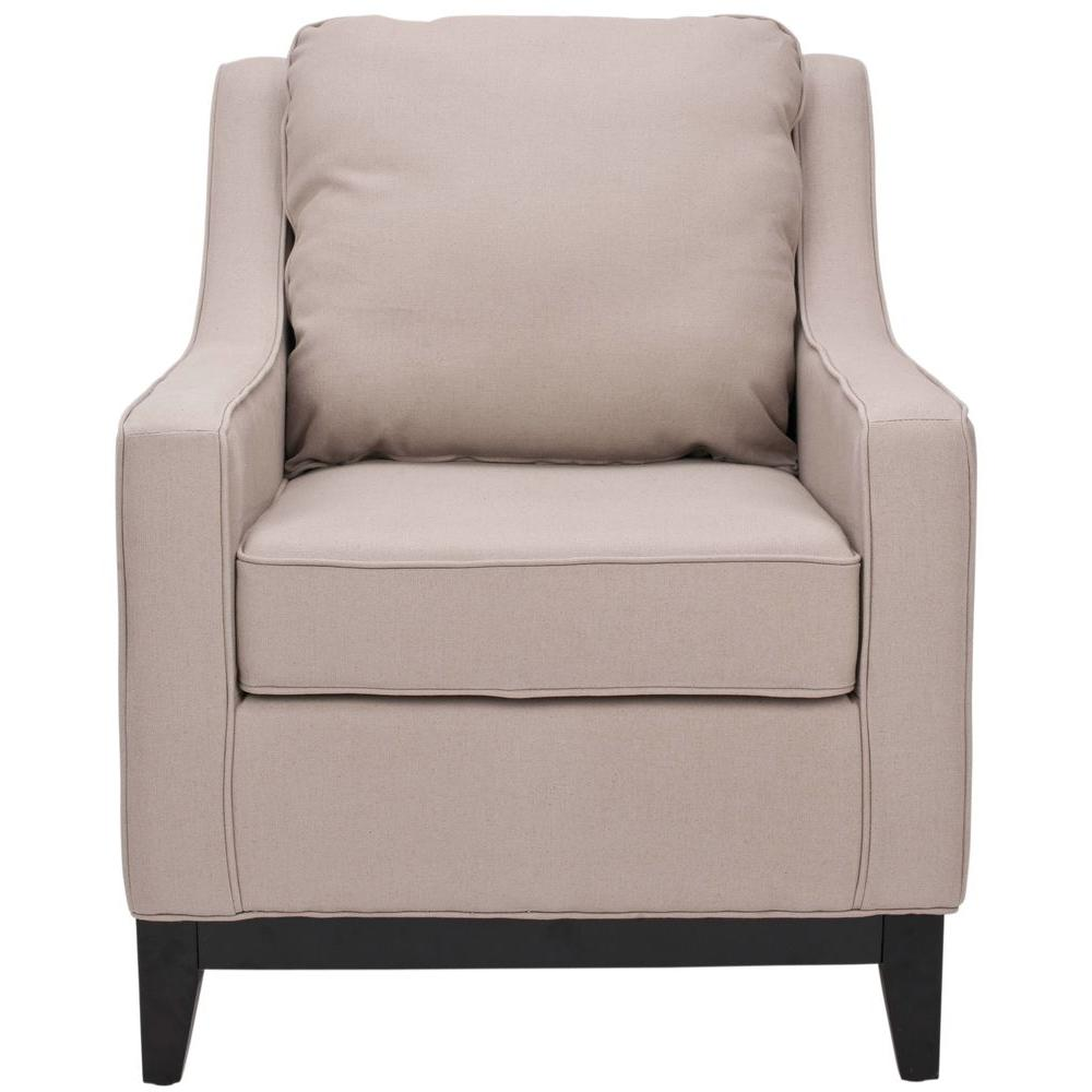 Safavieh Colton Linen Club Chair in Taupe-MCR4570B - The Home Depot