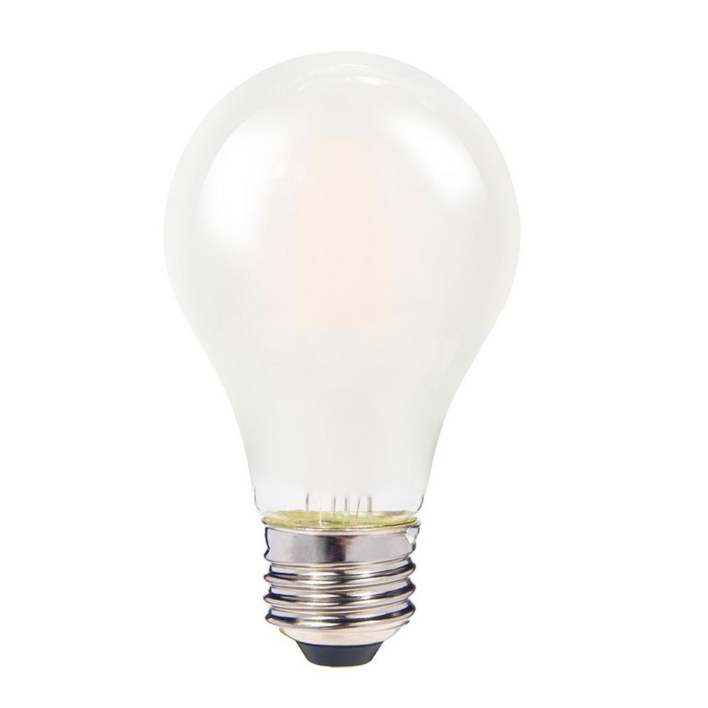 60W Equivalent Frosted Warm White A19 Dimmable Shatter-Resistant LED Light Bulb