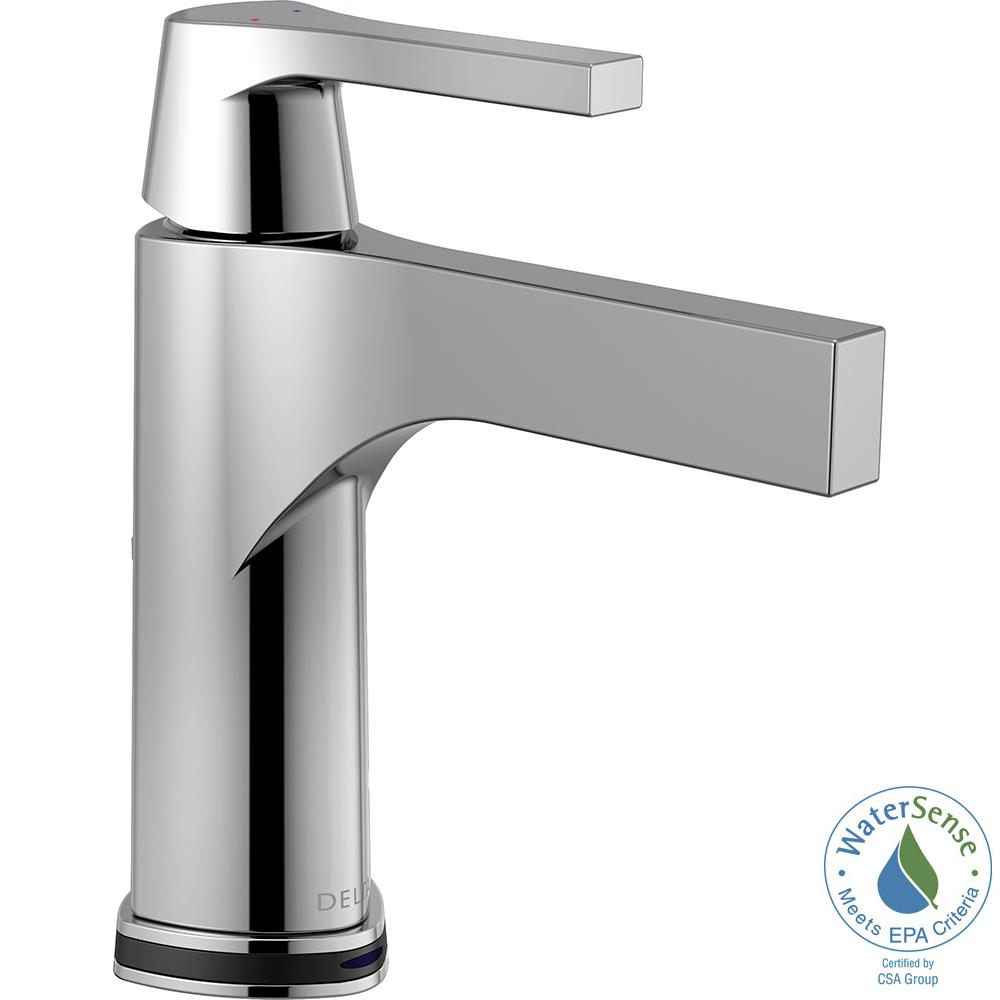Delta Zura Single Hole Single-Handle Bathroom Faucet with Touch2O.xt Technology