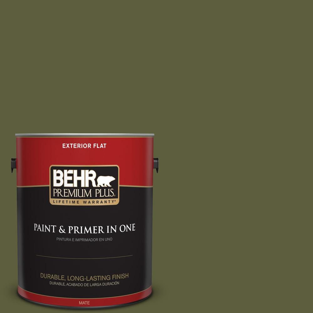 1 gal. #PPU9-25 Eastern Bamboo Flat Exterior Paint