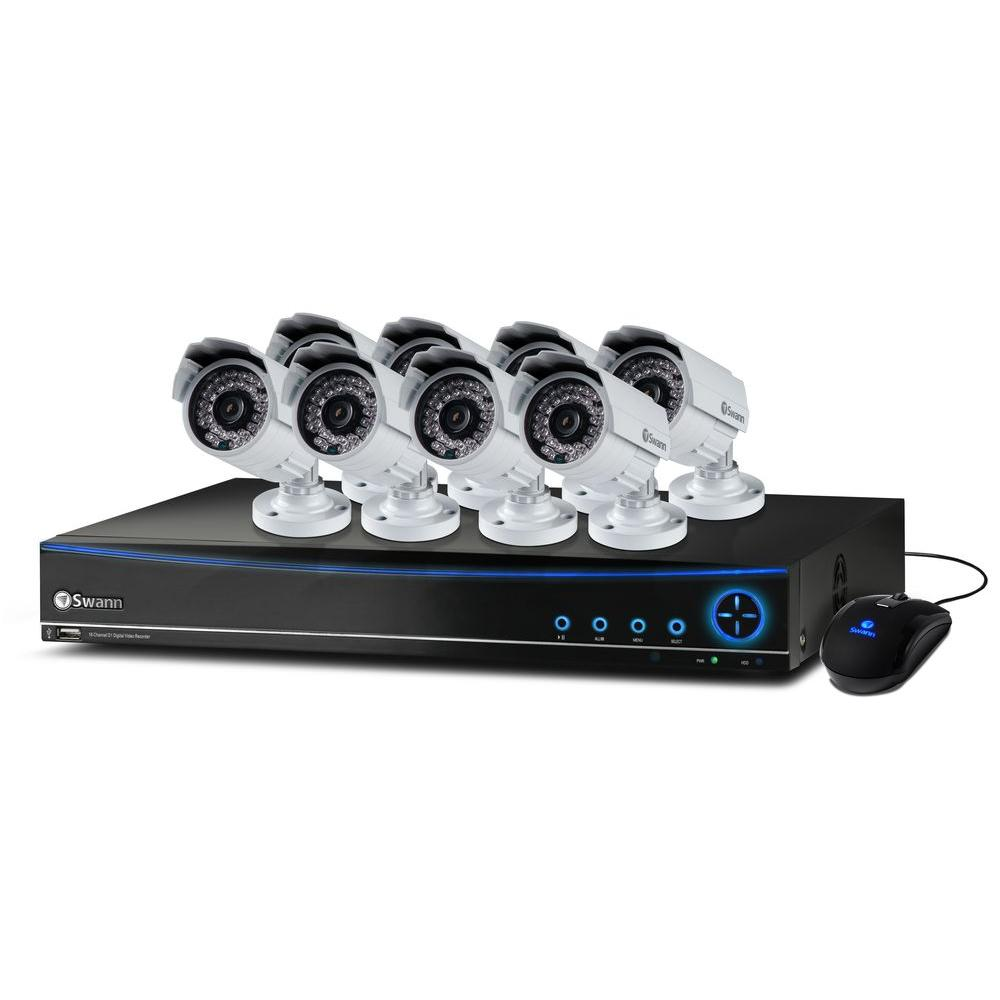 Swann 16-Channel 960H DVR with (8) 700 TVL Indoor/Outdoor Cameras