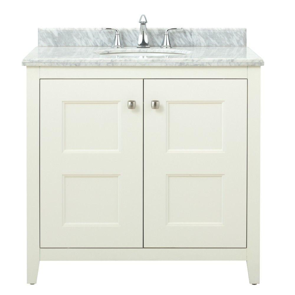 Union Square 36 in. W Vanity in White with Marble Vanity
