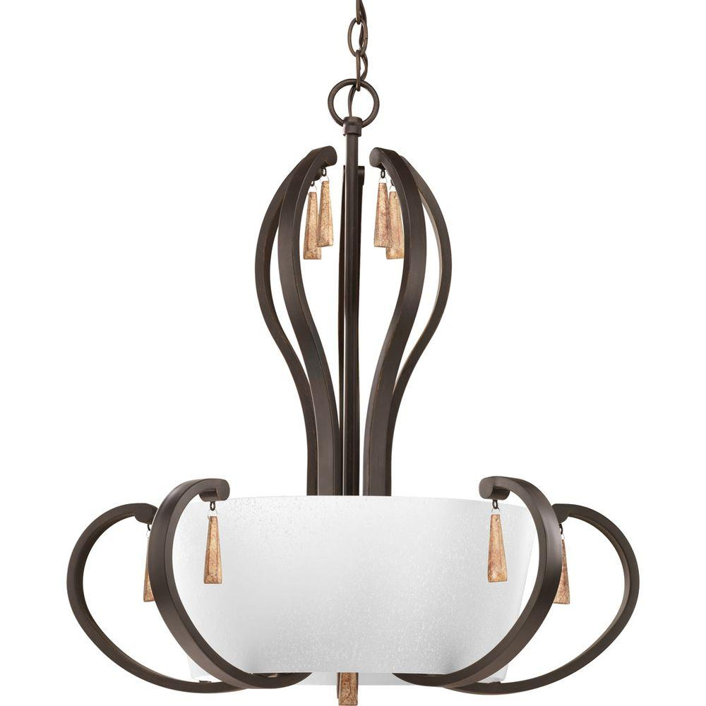 Progress Lighting Club Collection 5-Light Antique Bronze Foyer Pendant-P3625-20