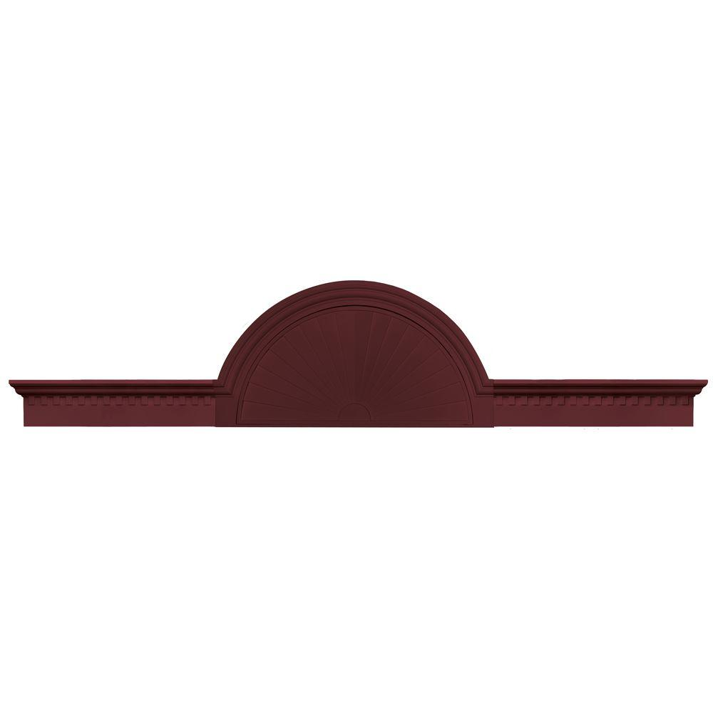 Builders Edge 70 in. - 106 in. Classic Dentil Panel Window and Door Accent in 078 Wineberry-DISCONTINUED