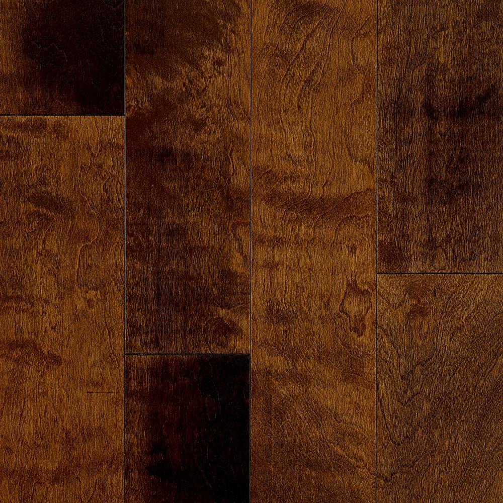 Birch Brushed Ginger 3/8 in. Thick x 5 in. Wide x Varying Length Engineered Hardwood Flooring (22 sq. ft. / case)